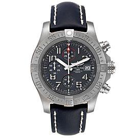 Breitling Avenger Bandit Grey Dial Blue Stap Titanium Watch E13383 Box Papers