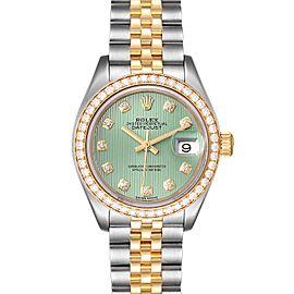 Rolex Datejust 28 Steel Yellow Gold Diamond Ladies Watch 279383
