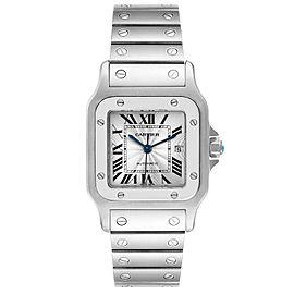 Cartier Santos Galbee Silver Dial Automatic Steel Mens Watch W20055D6