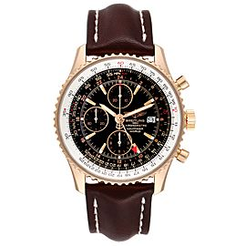 Breitling Navitimer World 18K Rose Gold Black Dial LE Watch H24322