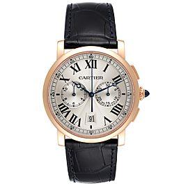 Cartier Rotonde Chronograph 18k Rose Gold Mens Watch W1556238