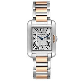 Cartier Tank Anglaise Small Steel Rose Gold Ladies Watch W5310019