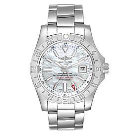 Breitling Aeromarine Avenger II GMT MOP Dial Steel Watch A32390