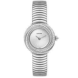 Cartier Trinity 18k White Gold Silver Dial Diamond Ladies Watch 2444