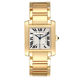 Cartier Tank Francaise Large Yellow Gold Automatic Unisex Watch W50001R2