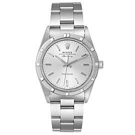 Rolex Air King Silver Dial 34mm Oyster Bracelet Steel Mens Watch 14010