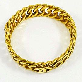 CHANEL Gold-tone Coco Mark CC Logo Bangle Bracelet CHAT-847