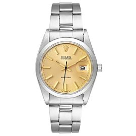 Rolex OysterDate Precision Steel Champagne Dial Vintage Mens Watch 6694