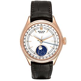 Rolex Cellini Moonphase Everose Gold Automatic Mens Watch 50535