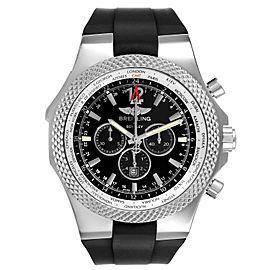 Breitling Bentley GMT Black Dial Steel Mens Watch A47362