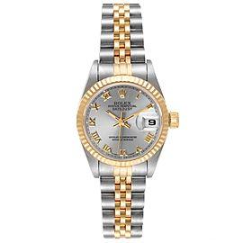 Rolex Datejust Steel Yellow Gold Grey Dial Ladies Watch 69173