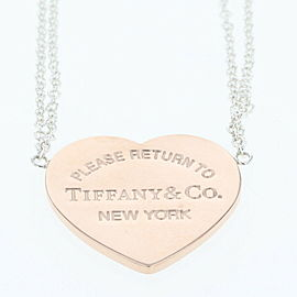 TIFFANY & Co. Silver/Rubedo Metal Return to heart Necklace