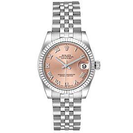 Rolex Datejust Midsize Steel White Gold Salmon Dial Watch 178274