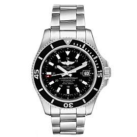 Breitling Superocean II Black Dial Steel Mens Watch A17365