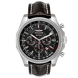 Breitling Bentley Barnato 49mm Black Red Dial Steel Watch A25368