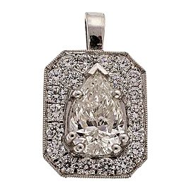 Platinum 1.01ct Diamond Octagonal Pendant