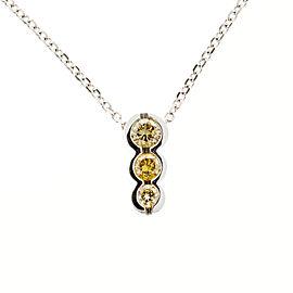 14k White Gold 0.55ct Diamond Chain Necklace