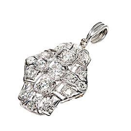 Platinum European Cut Diamond Pendant
