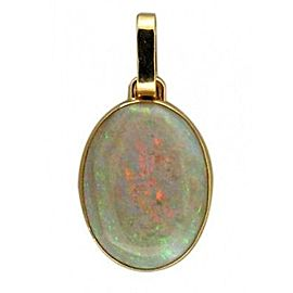 Peter Suchy 18K Yellow Gold with 7.90ct Oval Cut Black Opal Pendant
