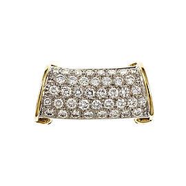 18K Yellow and White Gold Diamond Pendant