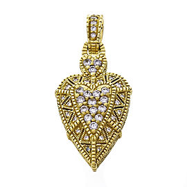 Judith Ripka Diamond Heart Pendant Enhancer 18k Gold