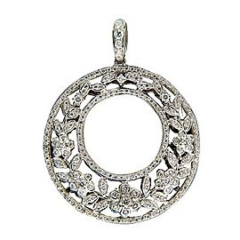 Charles Krypell 18K White Gold with 1.20ctw. Diamond Pendant