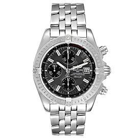 Breitling Chronomat Evolution Grey Dial Steel Mens Watch A13356