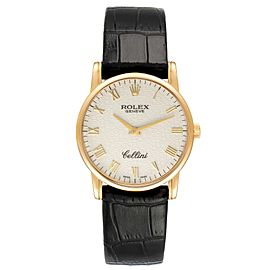 Rolex Cellini Classic Yellow Gold Ivory Anniversary Dial Mens Watch 5116