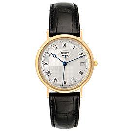 Breguet Classique 18K Yellow Gold Silver Dial Mens Watch 5910