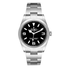 Rolex Explorer I Black Dial Stainless Steel Mens Watch 124270