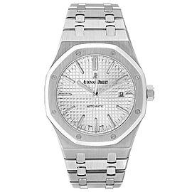 Audemars Piguet Royal Oak White Dial Steel Mens Watch 15400ST