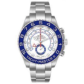 Rolex Yachtmaster II 44 Blue Cerachrom Bezel Steel Mens Watch 116680