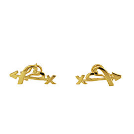 Tiffany & Co Paloma Picasso 18K Gold Heart and Arrow Earrings