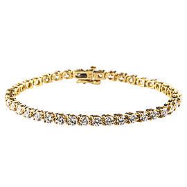 14K Yellow Gold 8.00ct Diamond Tennis Bracelet