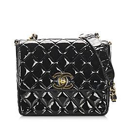Matelasse Patent Leather Single Flap Bag