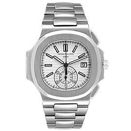 Patek Philippe Nautilus White Dial Steel Mens Watch 5980