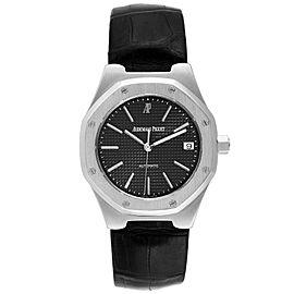 Audemars Piguet Royal Oak Black Dial Steel Mens Watch 14800ST