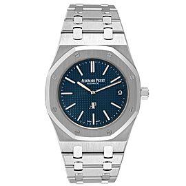 Audemars Piguet Royal Oak Blue Dial Steel Mens Watch 15202ST