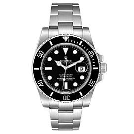 Rolex Submariner Black Dial Ceramic Bezel Steel Mens Watch 116610