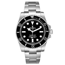Rolex Submariner 40mm Black Dial Ceramic Bezel Steel Watch 114060
