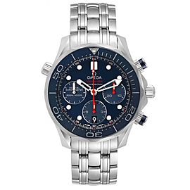 Omega Seamaster Diver 300M 44mm Blue Dial Watch 212.30.42.50.03.001 Box Card