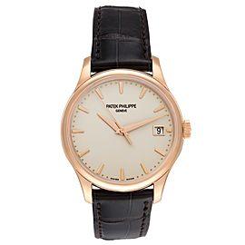 Patek Philippe Calatrava Hunter Case 18k Rose Gold Mens Watch 5227