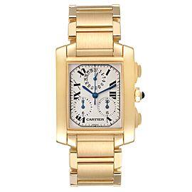 Cartier Tank Francaise Chrongraph Yellow Gold Quartz Watch W50005R2