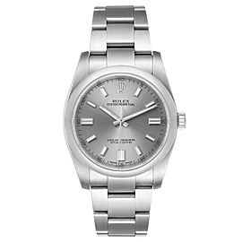 Rolex Oyster Perpetual Rhodium Dial Steel Mens Watch 116000