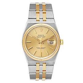 Rolex Oysterquartz Datejust Steel Yellow Gold Mens Watch 17013