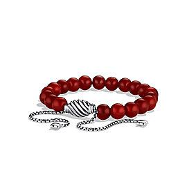 David Yurman Spiritual Bead Sterling Silver Carnelian Bracelet