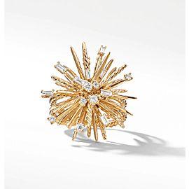 David Yurman Supernova Ring with Diamonds in 18K Yellow Gold