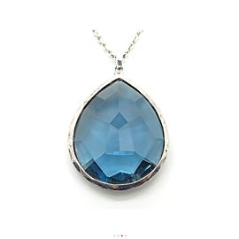 Ippolita Blue Quartz Sterling Silver Pendant Necklace