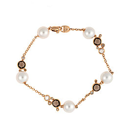 Damiani 18k Rose Gold .42 CTW Diamond & Smoky Quartz Bracelet