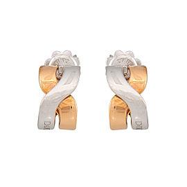 Damiani 18k White Gold Baci Earrings